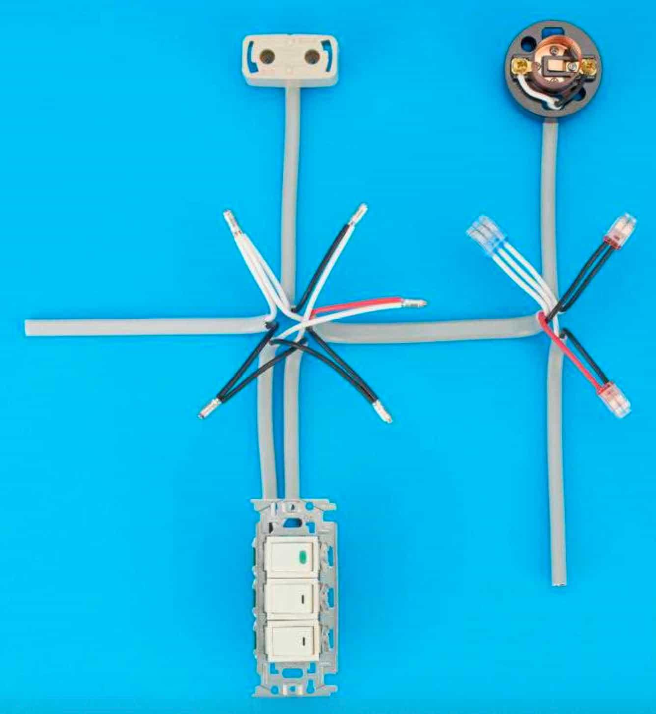 第二種電気工事士の技能試験の試験問題No.1の施工完成形