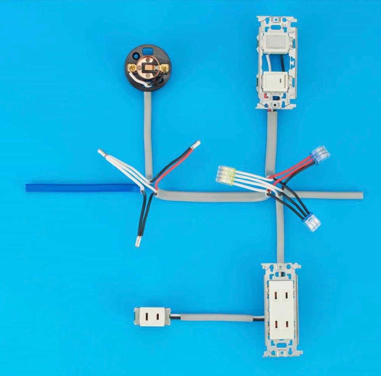 第二種電気工事士の技能試験の試験問題No.2の施工完成形