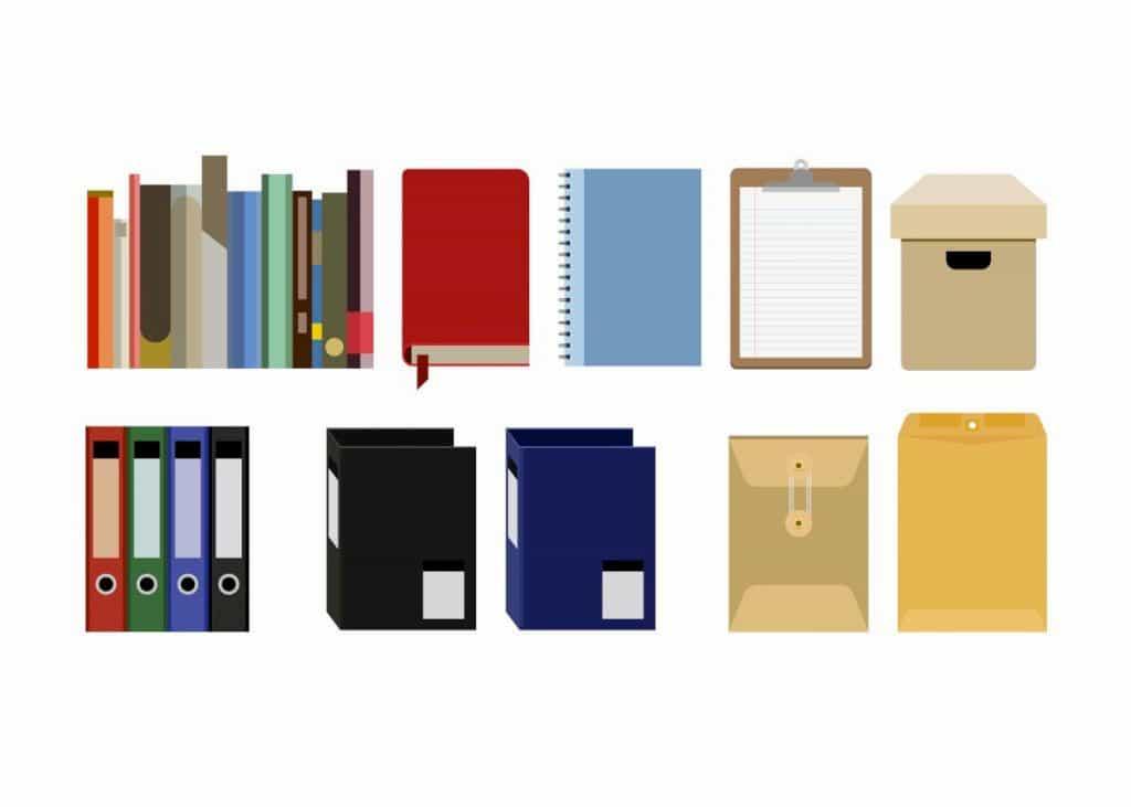 書類やファイルの集合体