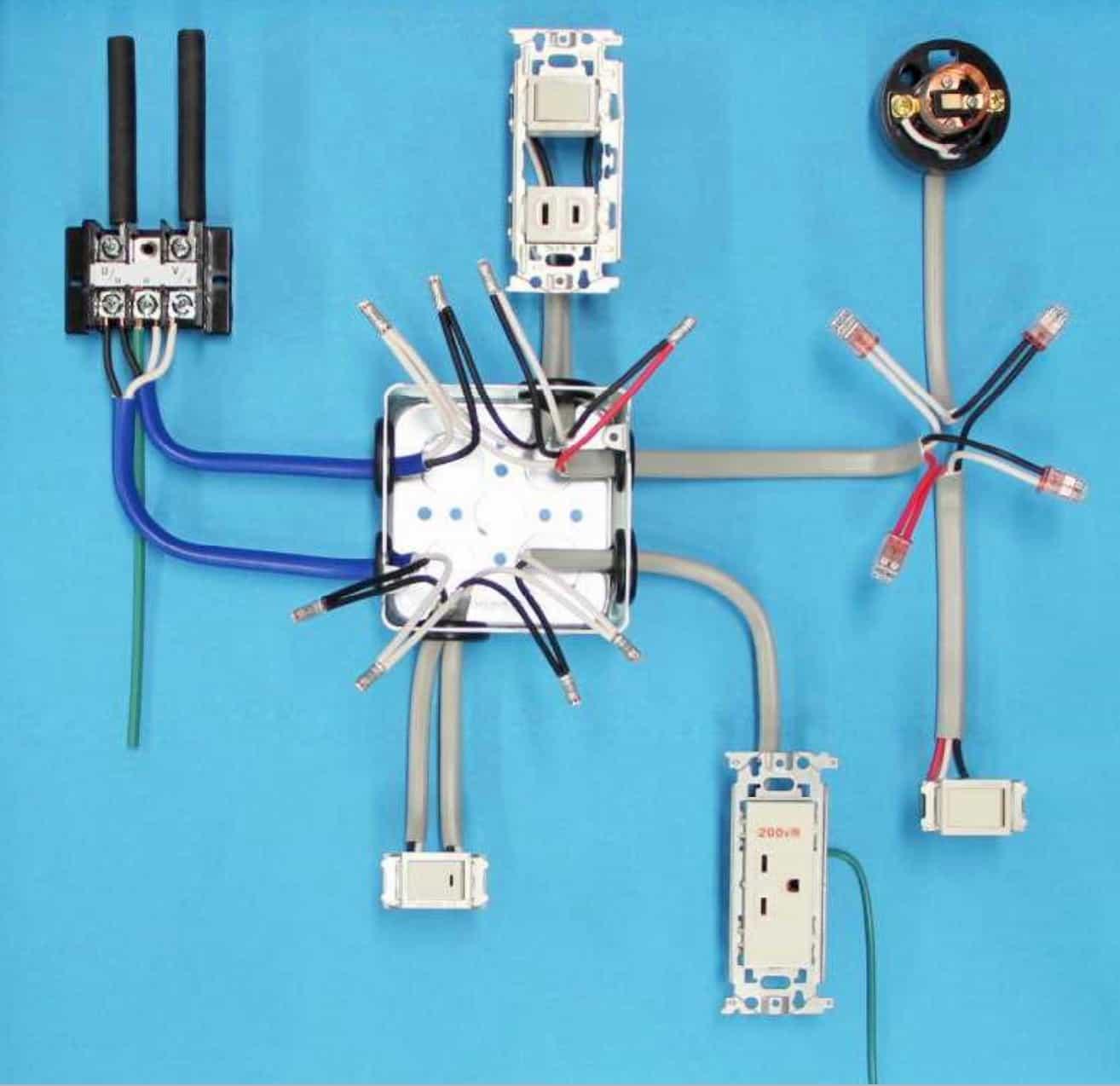 第一種電気工事士の技能試験の試験問題No.1の施工完成形