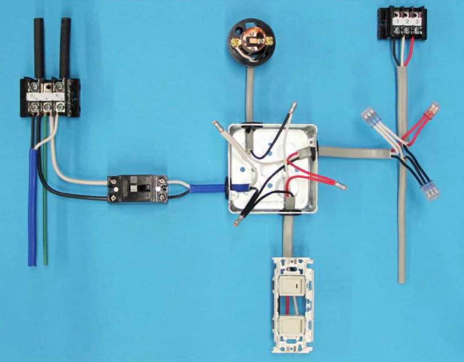 第一種電気工事士の技能試験の試験問題No.2の施工完成形