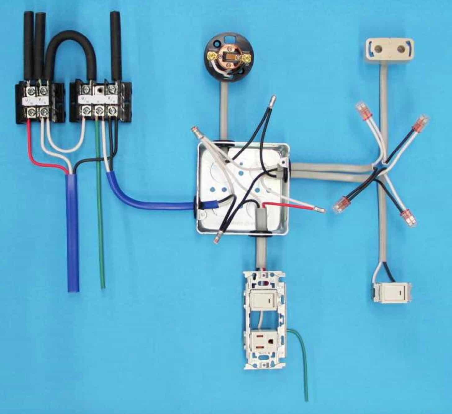 第一種電気工事士の技能試験の試験問題No.3の施工完成形