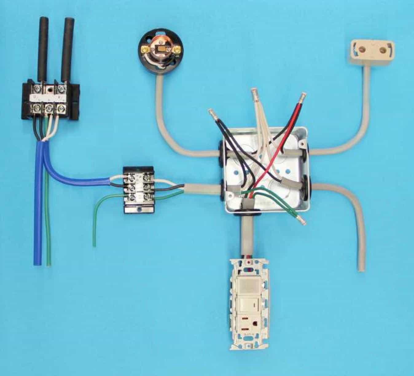 第一種電気工事士の技能試験の試験問題No.4の施工完成形