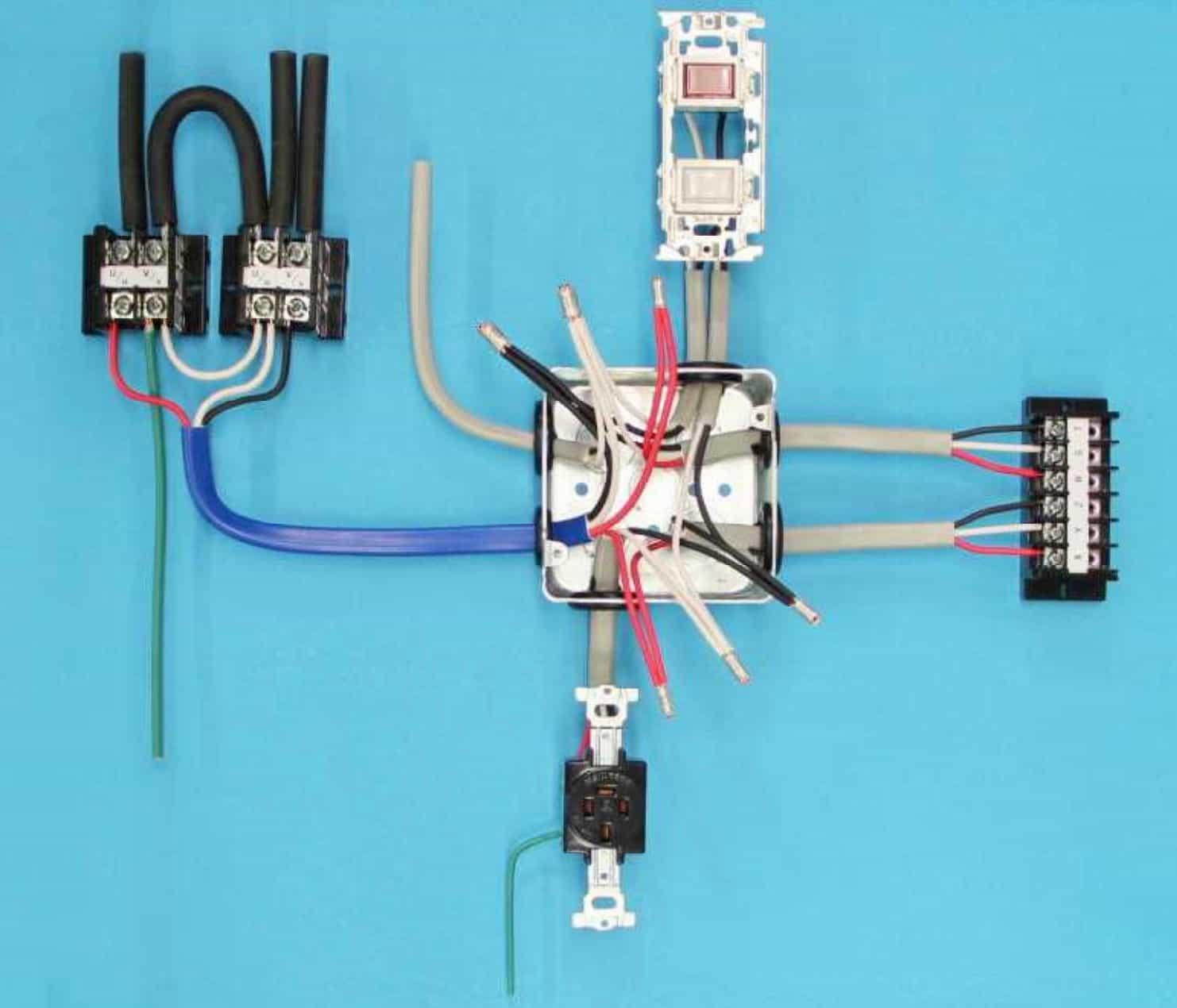 第一種電気工事士の技能試験の試験問題No.5の施工完成形