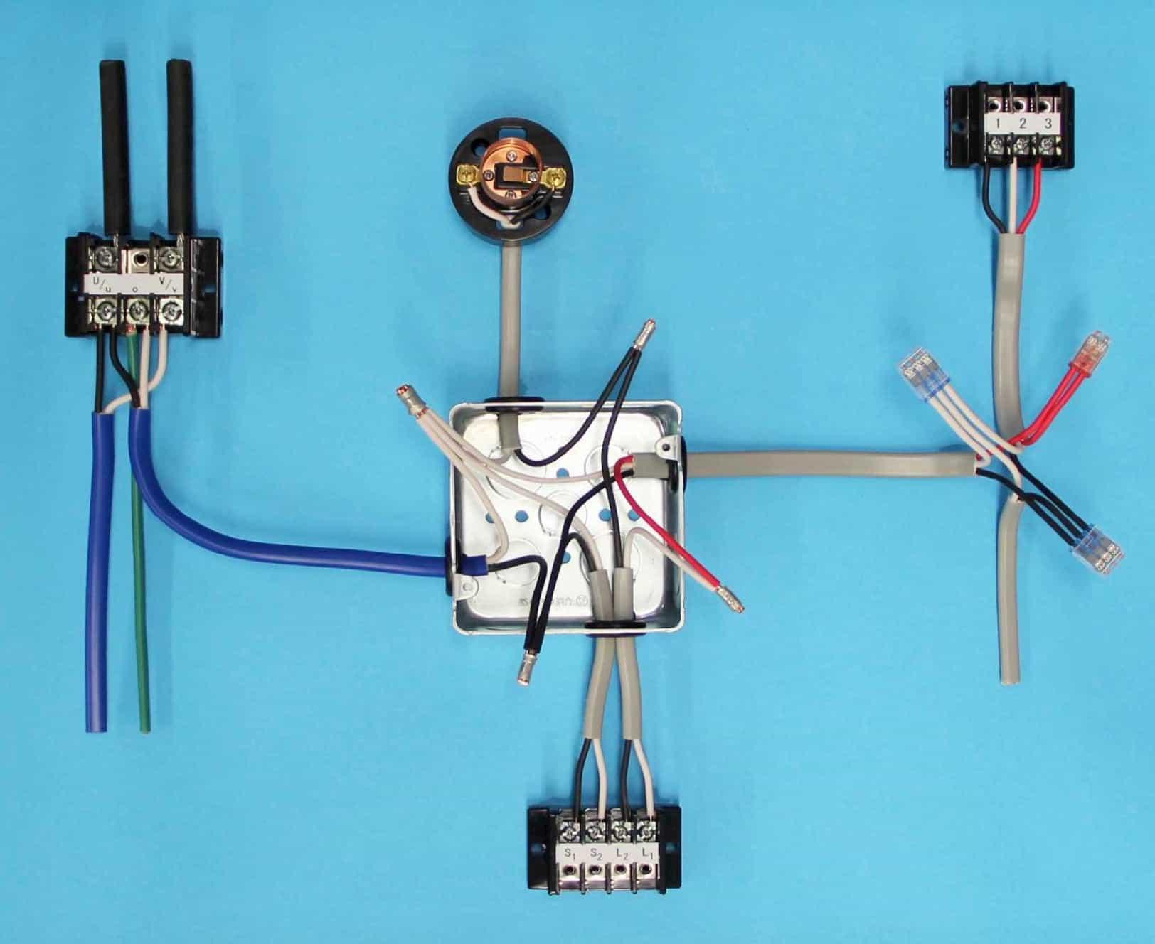 第一種電気工事士の技能試験の試験問題No.9の施工完成形