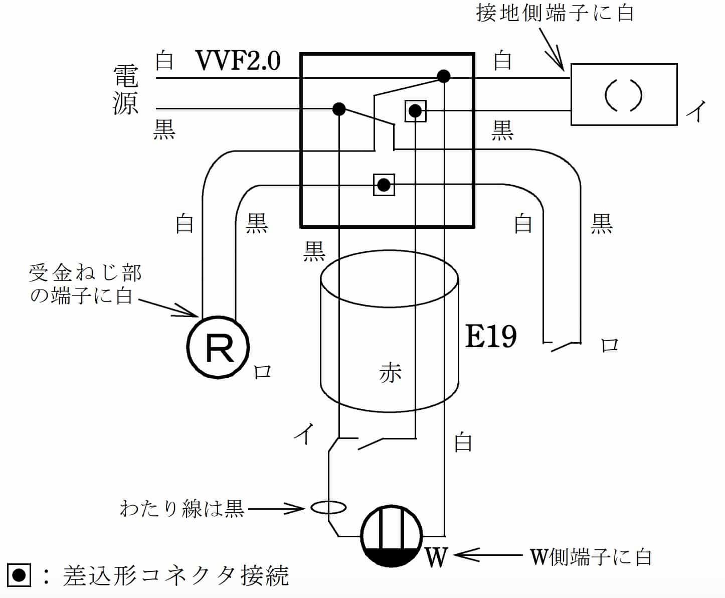 第二種電気工事士の技能試験の試験問題No.11の複線図