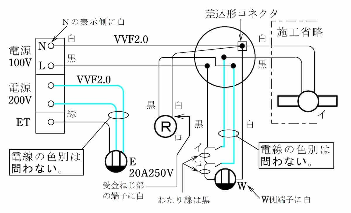 第二種電気工事士の技能試験の試験問題No.5の複線図