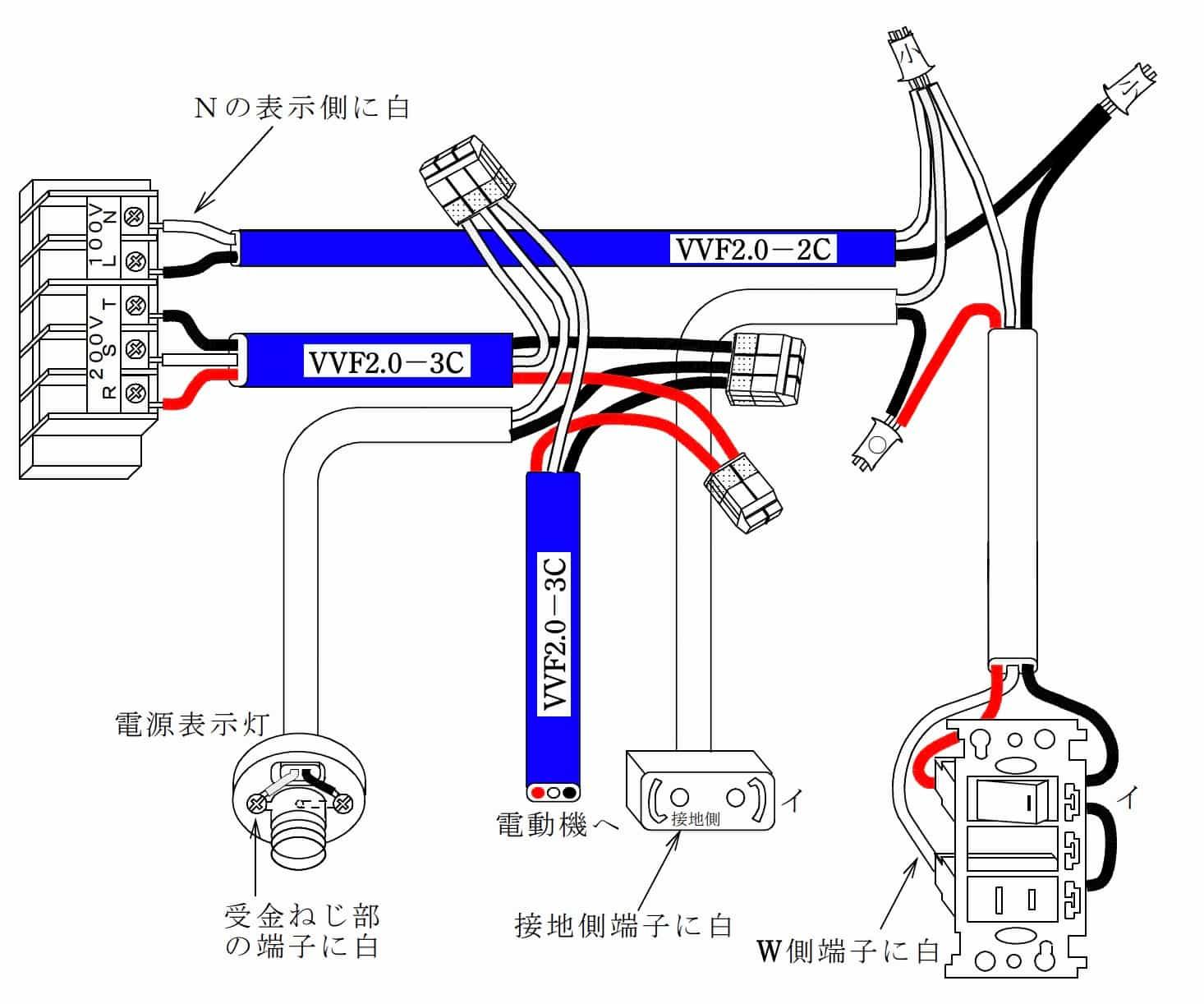 第二種電気工事士の技能試験の試験問題No.4の概念図