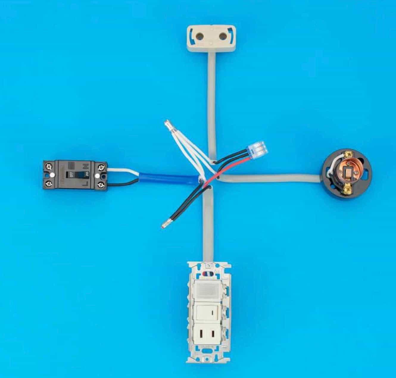 第二種電気工事士の技能試験の試験問題No.10の施工完成形