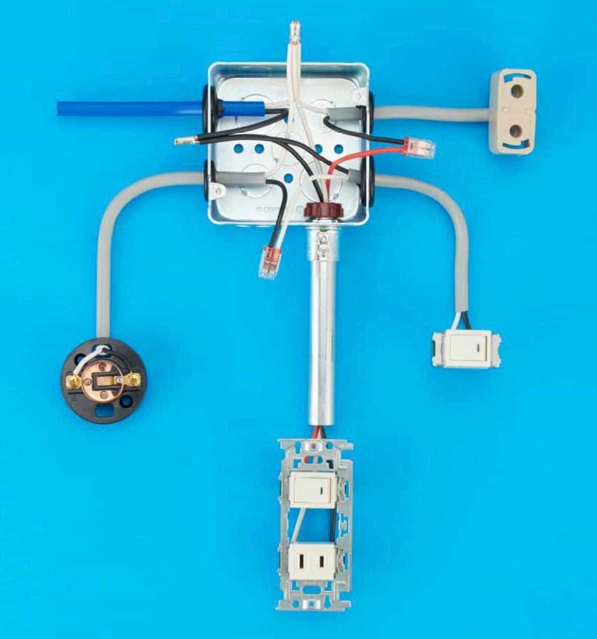 第二種電気工事士の技能試験の試験問題No.11の施工完成形