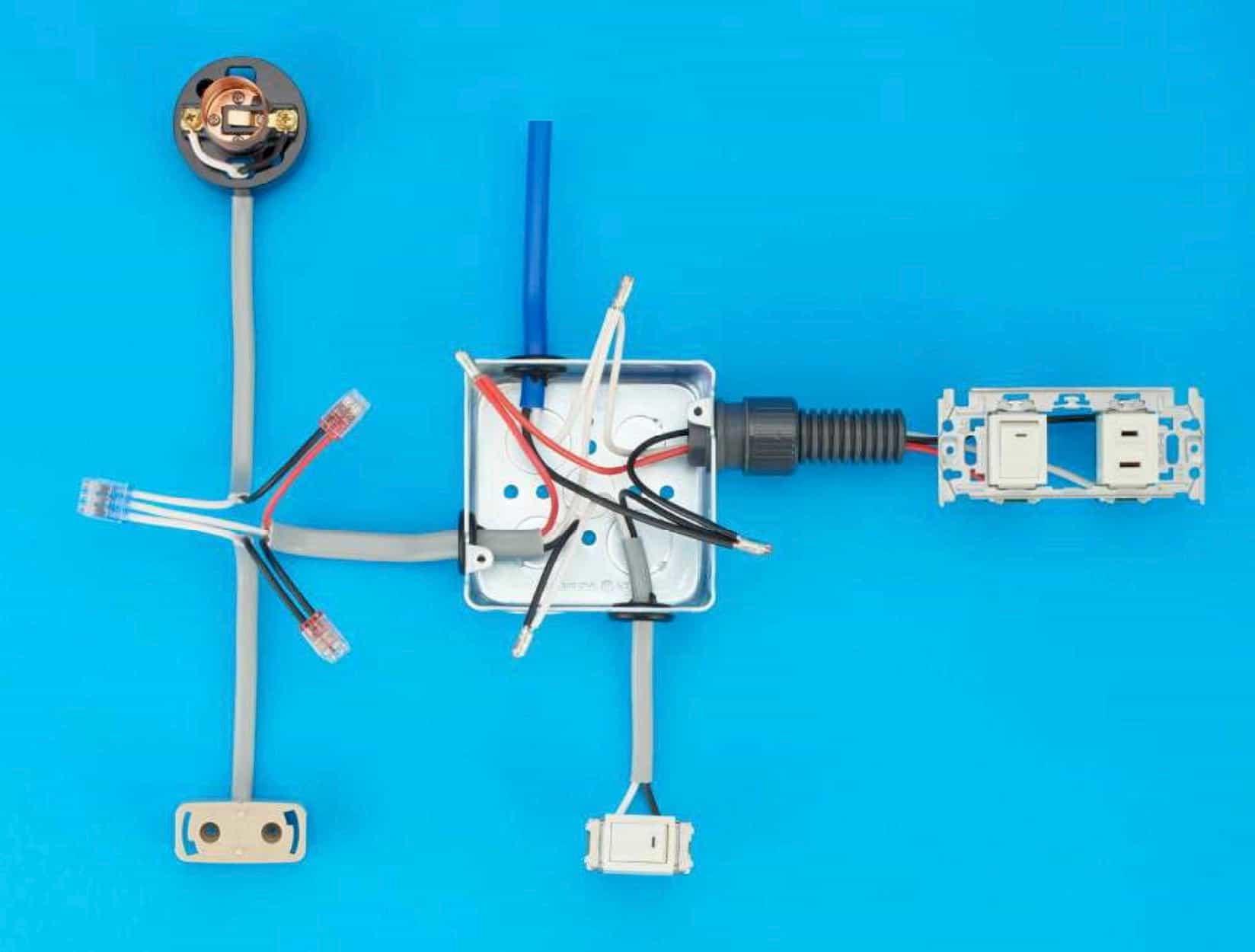第二種電気工事士の技能試験の試験問題No.12の施工完成形