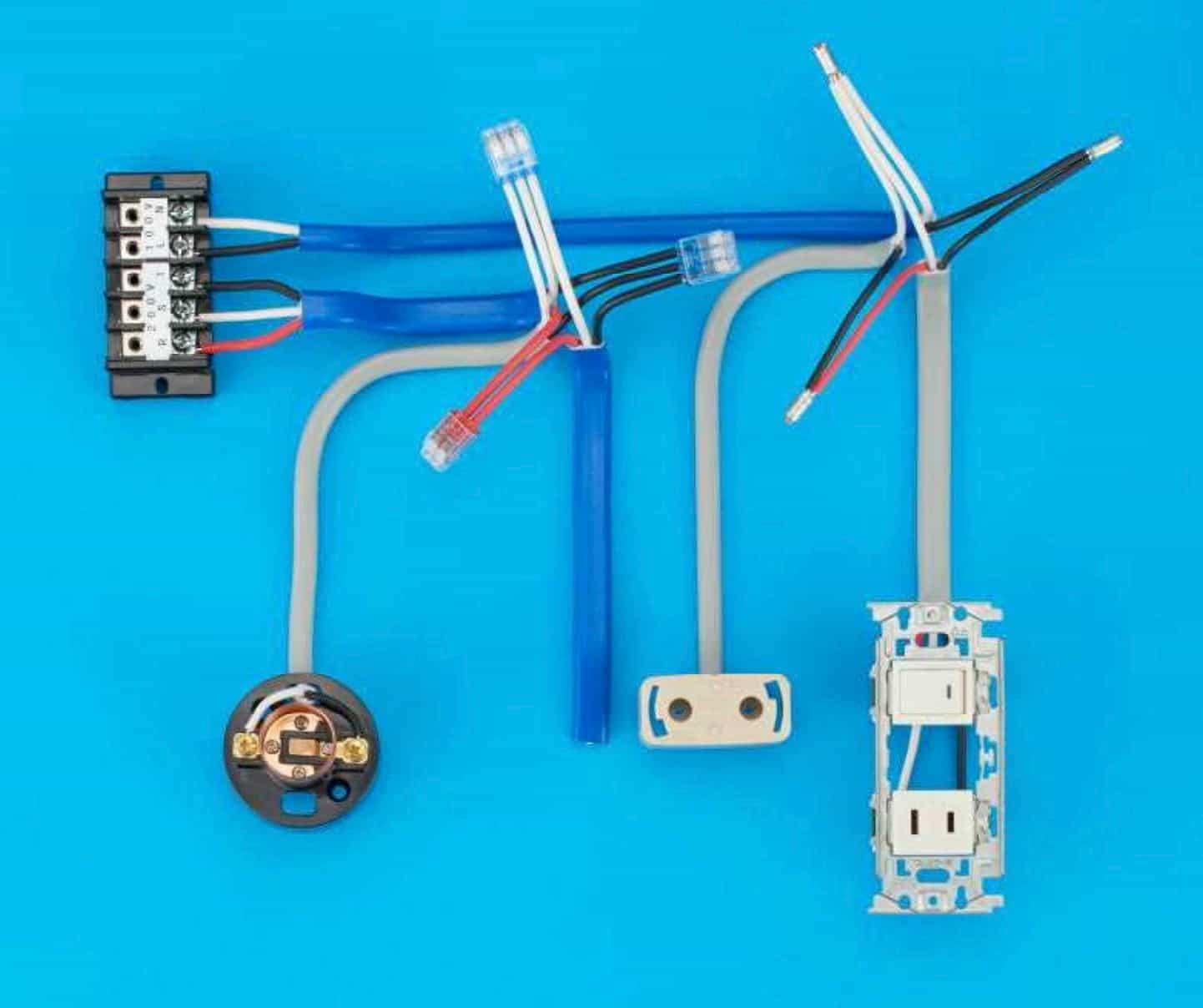 第二種電気工事士の技能試験の試験問題No.4の施工完成形