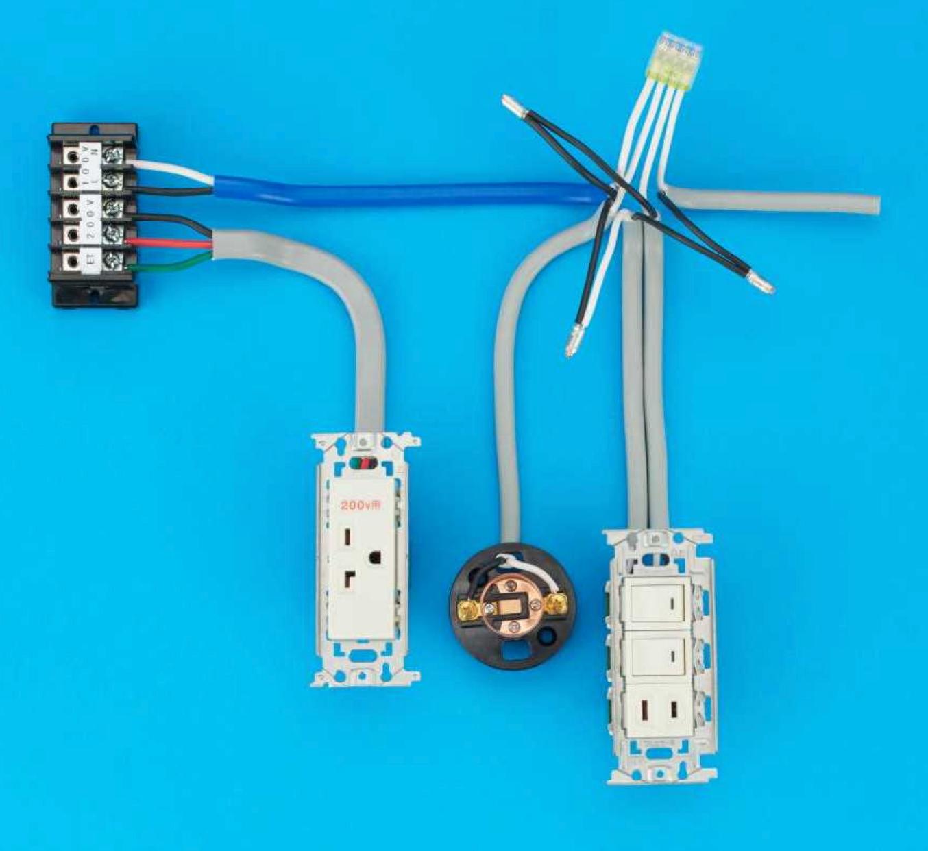 第二種電気工事士の技能試験の試験問題No.5の施工完成形