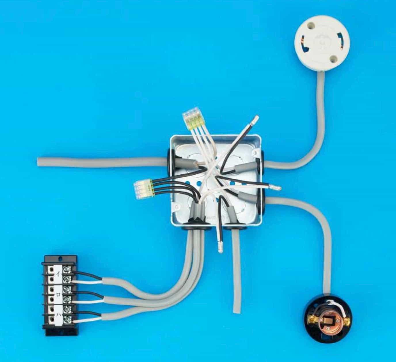 第二種電気工事士の技能試験の試験問題No.8の施工完成形