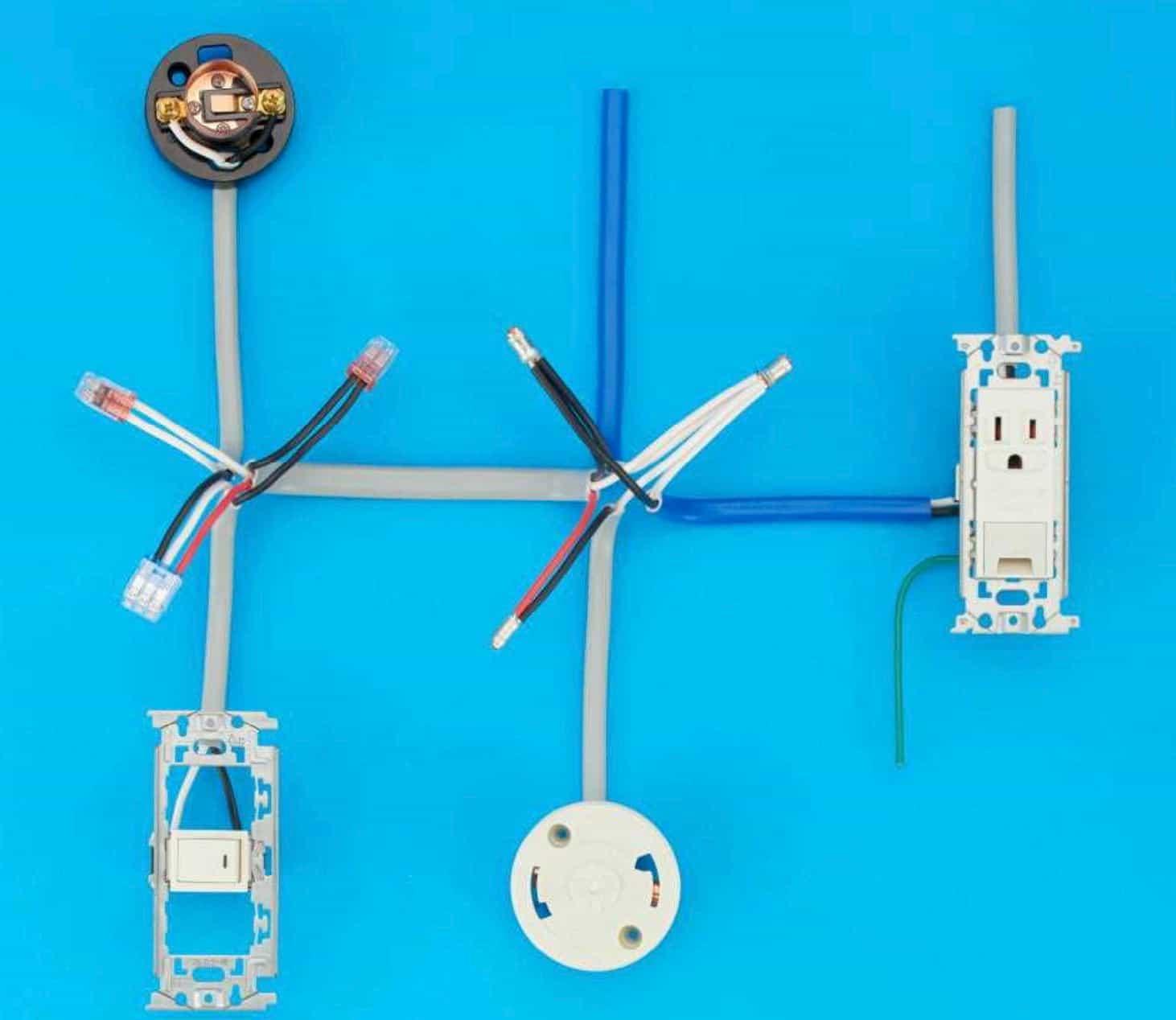 第二種電気工事士の技能試験の試験問題No.9の施工完成形