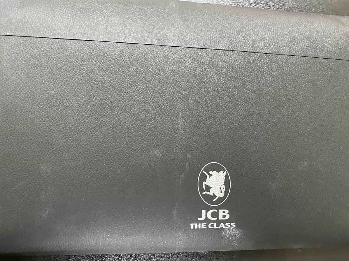 JCB THE CLASSの封筒の裏側